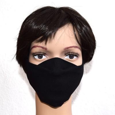 Mund- und Nasen-Maske Universalgröße Behelfs-Mundschutz schwarz Beispielbild