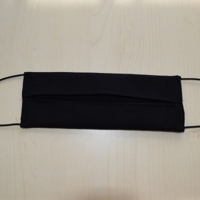 Mund- und Nasen-Maske Universalgröße Behelfs-Mundschutz schwarz von Innen