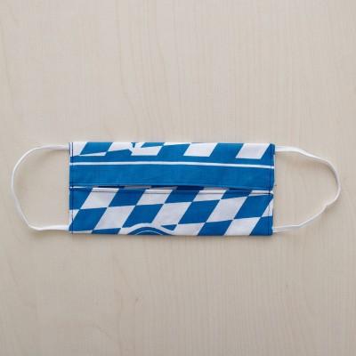 Mund- und Nasen-Maske Jugendmaske Behelfs-Mundschutz mit Bayern Wappen blau-weiß von Innen