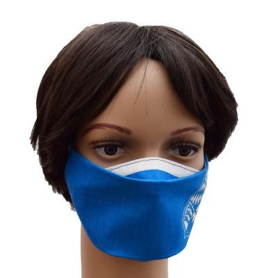 Mund- und Nasen-Maske Universalgröße Behelfs-Mundschutz mit Bayern Wappen blau-weiß Beispielbild
