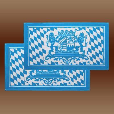 Platzdeckchen mit Bayern-Wappen in blau-weiß 2er Set