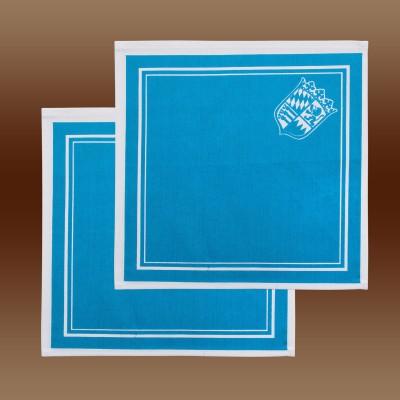 2er Set Stoff-Serviette mit Bayern-Wappen in blau-weiß