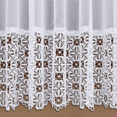 Sockel-Store Marsilia weiß Detail