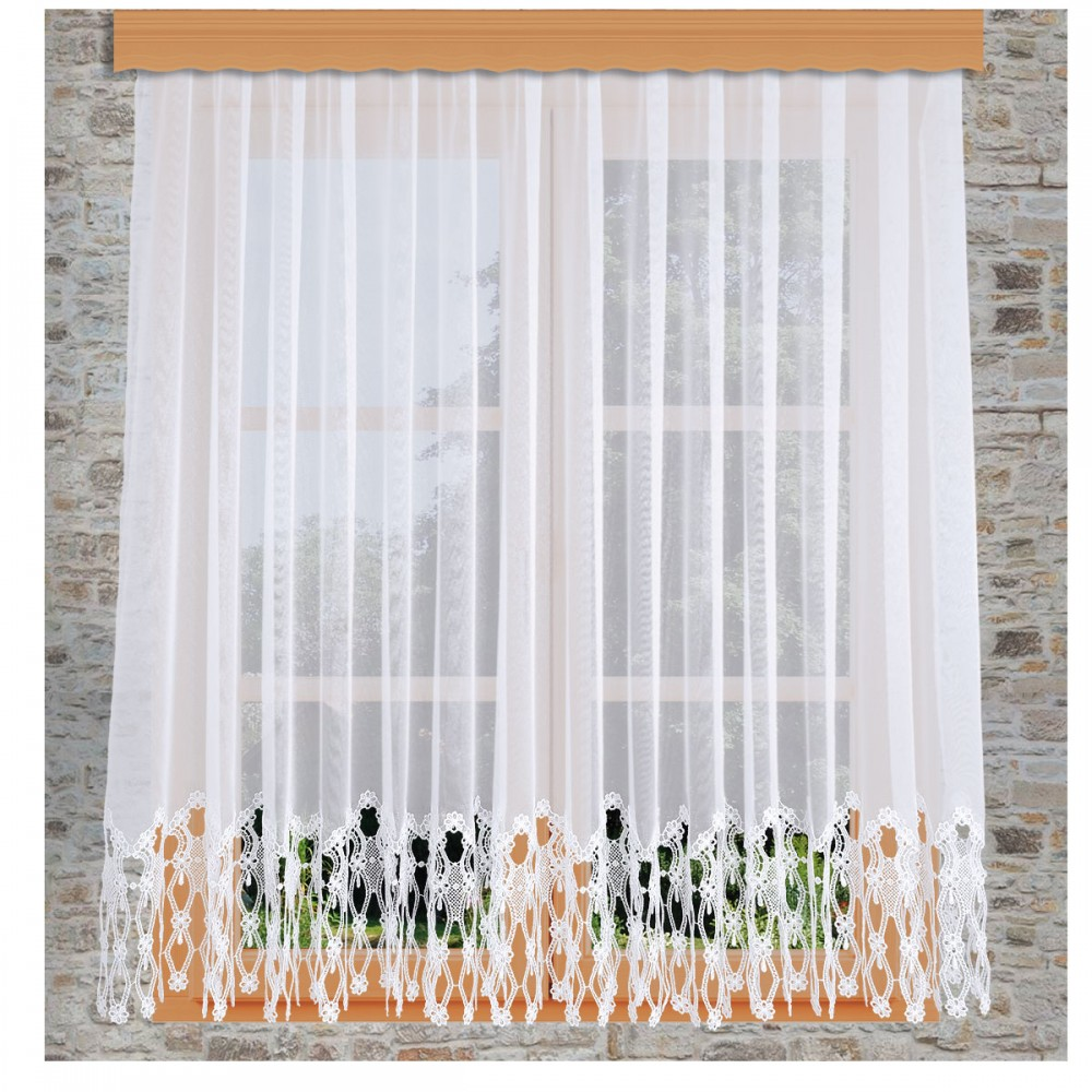 Sockel-Store Samila weiß am Fenster dekoriert