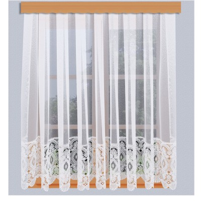 Sockelgardine Chrissi Fenster grau