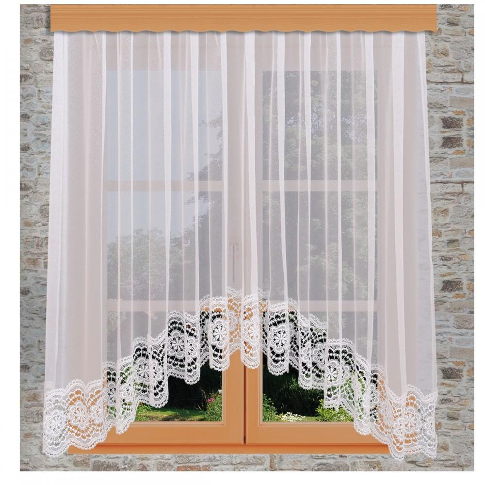 Edler Blumenfenster-Store Eva am Fenster
