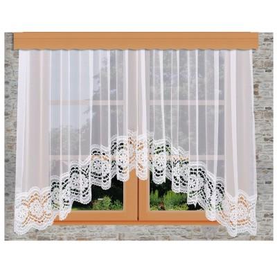 Edler Blumenfenster-Store Eva dekoriert am Fenster