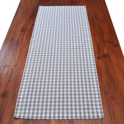 Tischläufer Hannah grau-weiß kariert 100 cm lang