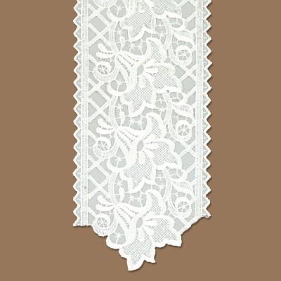 Spitzenband Tischband Blumenmuster weiß Abschluss