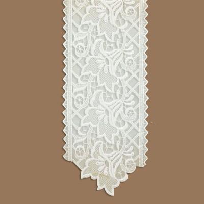 Spitzenband Tischband Blumenmuster Lachs unterer Abschluss