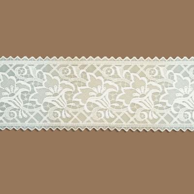 Spitzenband Tischband Blumenmuster Lachs Ausschnitt