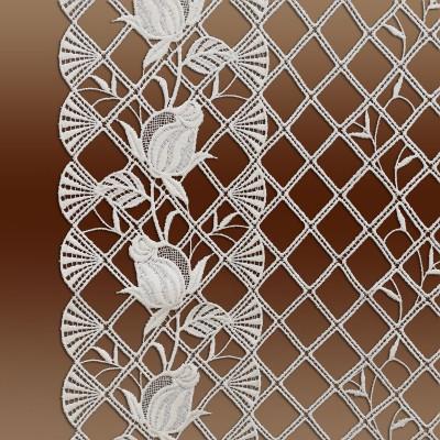Spitzen-Scheibenhänger Anja mit Rosenmuster Detailansicht Rosen