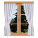 Seitenschalgarnitur Merida in weiß am Fenster dekoriert