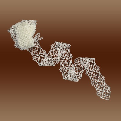 Sptizenband Sissi 10cm breit natur