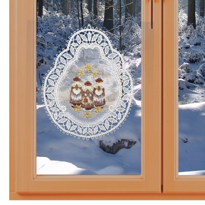 Fensterbild Kurrendesänger Echte Plauener Spitze am Fenster