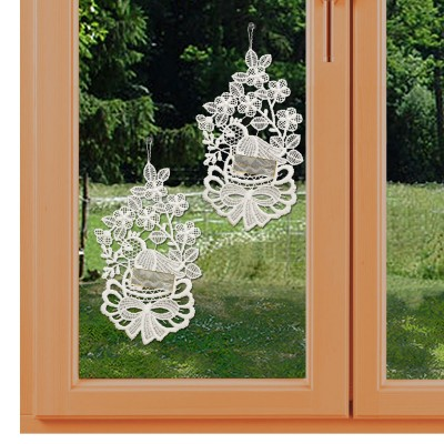 Oster-Küken 2er-Set Klassische Frühlings-Fensterbilder am Fenster