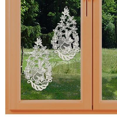 Osterhasen 2er-Set Klassische Oster-Fensterbilder am Fenster