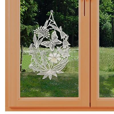 Wiesenblüten Klassisches Blumen-Fensterbild am Fenster