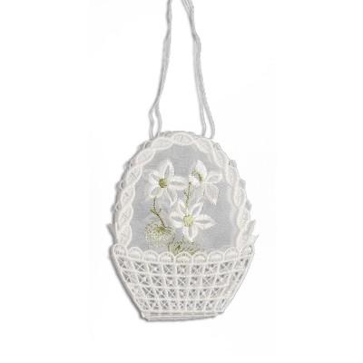 Gestickte Geschenke-Tasche Blume
