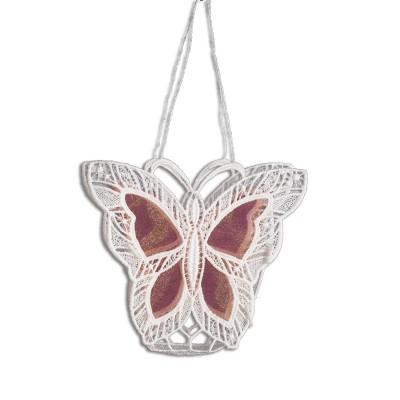 Gestickte Geschenke-Tasche Schmetterling