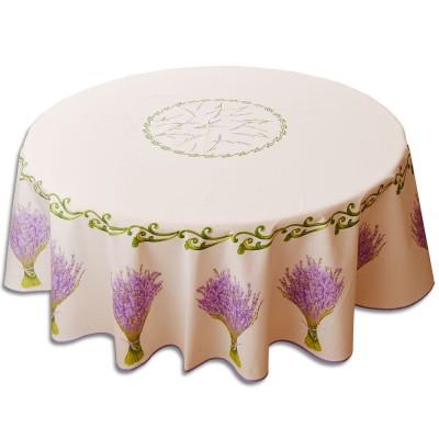 Tischdecke mit Lavendel rund Durchmesser 170 cm