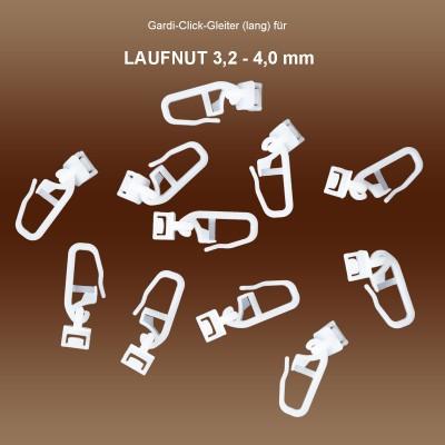 Gardi Click-Gleiter mit Faltenhäckchen für Gardinenschiene