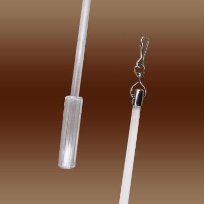 Schleuderstab transparent mit Griff aus Kunststoff Details