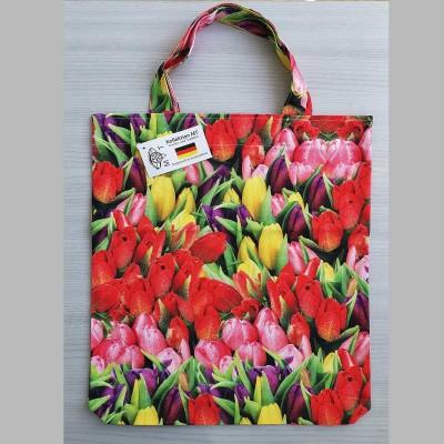 Tragetasche Einkaufstasche Tulpen bunt 37 x 35 cm