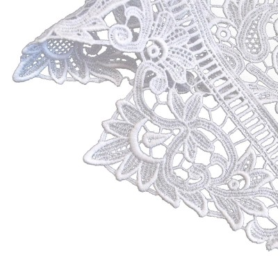 Spitzenkragen zum Aufnähen Plauener Spitze DIY Detailbild