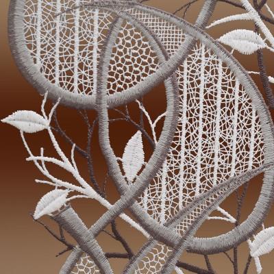 Modernes Spitzenbild Ornament in grau Detailbild