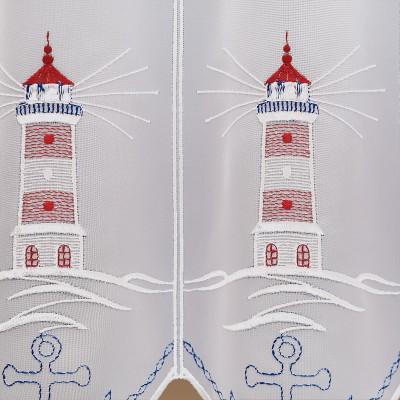 Maritimer Kurzstore Leuchtturm mit Anker Detailbild
