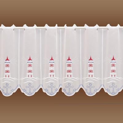 Maritime Scheibenhänger Leuchtturm mit Anker Musterbild