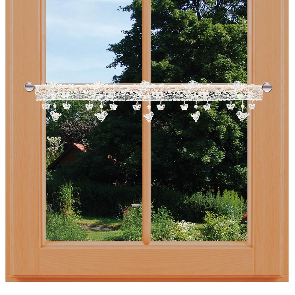 Feenhaus Spitzengardine Sommerlandschaft am Fenster