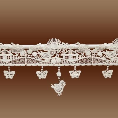 Feenhaus Scheibengardine Sommerlandschaft Detailbild