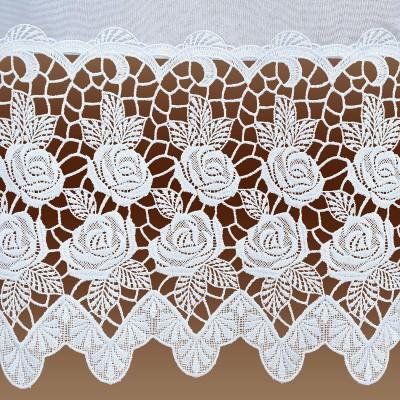 Hübscher Stickerei-Store Rosa weiß Detailbild Spitze