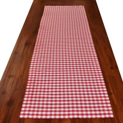Tischläufer Hannah rot-weiß kariert