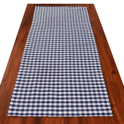 Tischläufer Hannah blau-weiß kariert