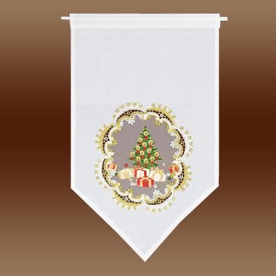 Weihnachts-Scheibenhänger Bescherung am Fenster kurze Variante