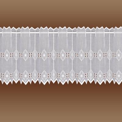 Feenhaus-Spitzen-Gardine Elly weiße Plauener Stickerei kurz