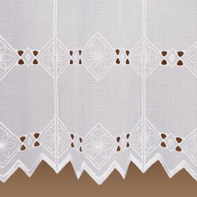 Feenhaus-Spitzen-Gardine Elly weiße Plauener Stickerei Detail