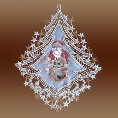 Fensterbild Weihnachtsmann auf Organza