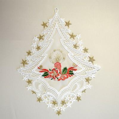Fensterbild Weihnachtslicht Advent Weihnacht Plauener Spitze hell