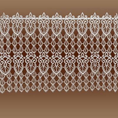 Spitzengardine Olivia Echte Plauener Spitze Scheibenhänger rohweiß 49 cm