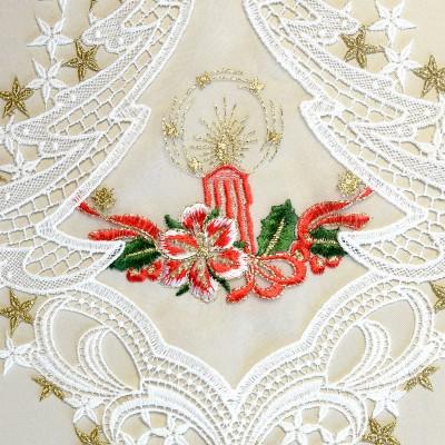 Fensterbild Weihnachtslicht Advent Weihnacht Plauener Spitze Detail