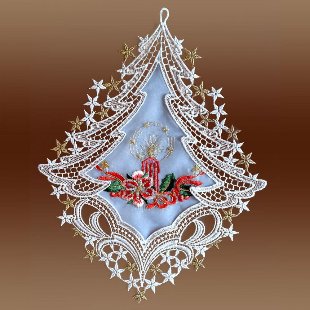 Fensterbild Weihnachtslicht Advent Weihnacht Plauener Spitze