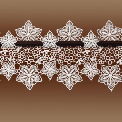 Feenhaus-Spitzenkante Jolanda 13 cm Blumenspitze natur Detailansicht