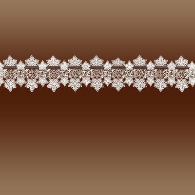 Feenhaus-Spitzenkante Jolanda 13 cm Blumenspitze natur vor einfachem Hintergrund
